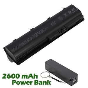 Battpit Bateria de repuesto para portátiles HP Pavilion g4-1001tu (6600 mah) con 2600mAh Banco de energía / batería externa (negro) para Smartphone