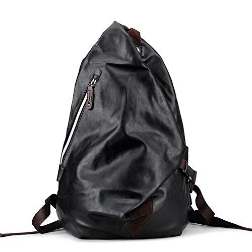 Bolso Masculino De Moda Meoaeo Casual Negro Y Bolsa Doble qEXS1w