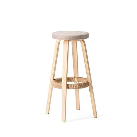 Amazon.com: BYX-Chair Solid Wood Bar Chair Round High Stool ...