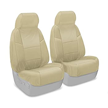 Coverking Custom Fit Front 50/50 Bucket Seat Cover for Select Toyota Tundra Models - Ballistic (Cashmere)