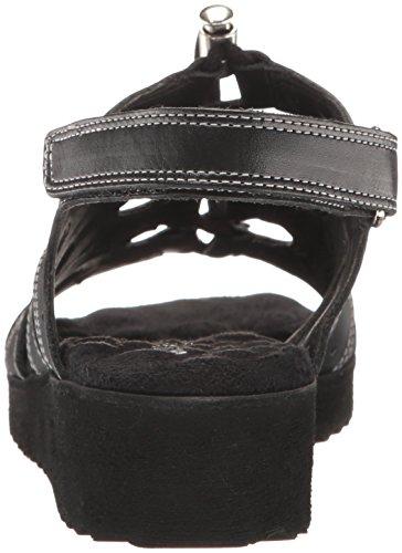 Harley Flat Sandal Women Black Cradles Walking 1BPCxzF