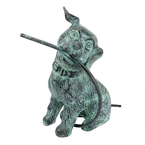 (Design Toscano SU5311 Raining Dogs: Emerald Verde Patina Bronze Piped Garden Statue, Verdigris)