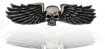 Angel Wings • Engel • Flügel • Skull • Biker Pin • Kutte • Vest • Skull Deadhead