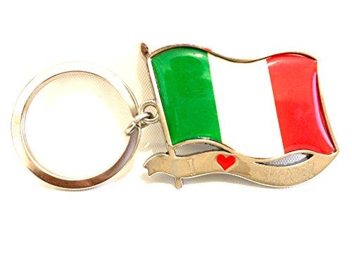 ITALY flag small Keychain design Italian flag I LOVE ITALY keychain - Italy Love Italian