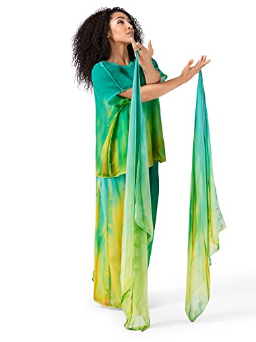 Drape Georgette - Worship Hand Painted Finger Drape with Elastic Loop WC108RDGO Red/Gold One-Size