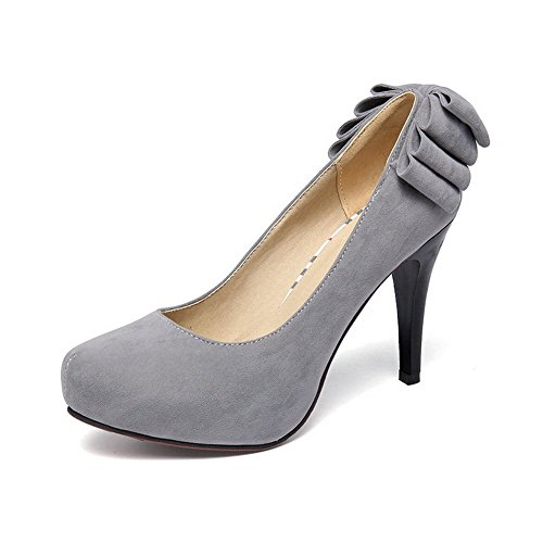 Gray Shoes BalaMasa Ladies Pumps Frosted On Solid Pull q0qYz