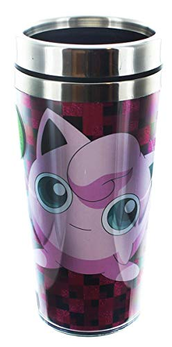 Pokemon Jigglypuff Pink Metal Lid Travel Mug [Just Funky] ()