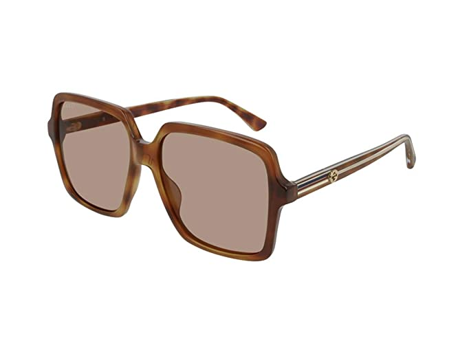 Gucci Gafas de sol para mujer GG0375S havana: Amazon.es ...