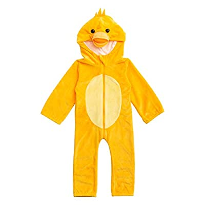 HollyHOME Baby Romper Cosplay Costume Cuddly Duck Toddler Cosplay Pajamas One Piece Jumpsuit Animal Cosplay Outfits Sleeping Wear for 12-18M: Toys & Games