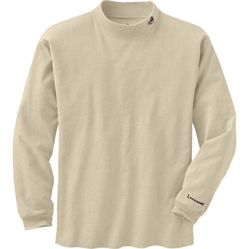 Legendary Whitetails Men's Legendary Mock Tee Stone (Cotton Mock Neck Mens T-shirt)