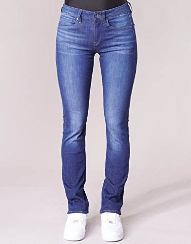 star Straight Midge Mid Raw G Wmn Jeans Blu Donna AqdvvOg