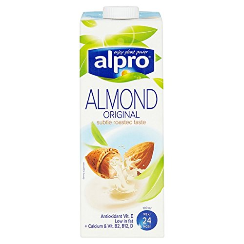 Alpro Lácteos almendra Longlife bebida 1L (Pack de 8 x 1ltr)