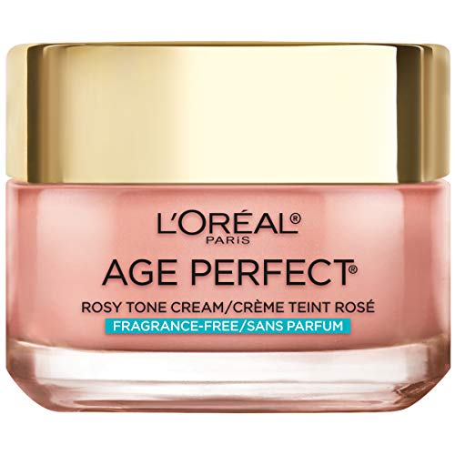 L'oreal Paris Skin Care Age Perfect Rosy Tone Fragrance Free Face Moisturizer To Renew and Revive Healthy Tone On Dull Skin for Visibly Younger Looking Skin, Paraben Free, 1.7 Ounce