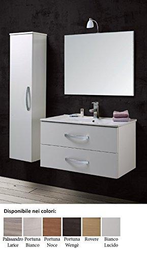 Mobile da bagno con lavabo e specchio sospeso composizione Arredo ...