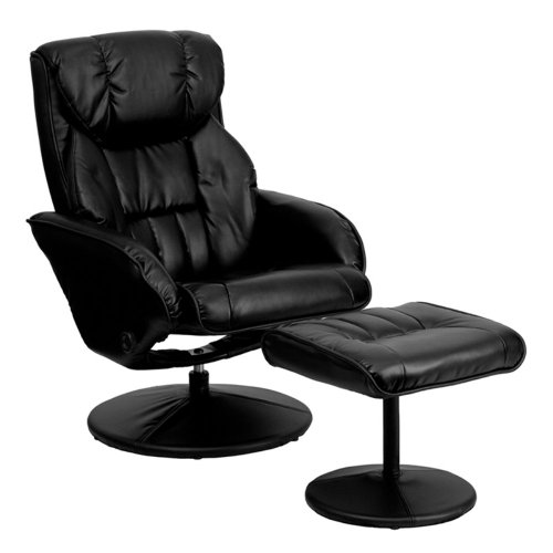 Flash-Furniture-Contemporary-Leather-Recliner-and-Ottoman-with-Circular-Leather-Wrapped-Base