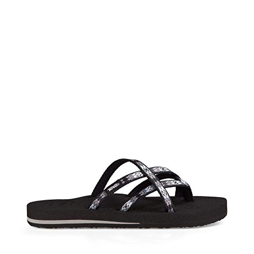 Teva Women's W Olowahu Sandal, Pana Black/Grey, 9 M US