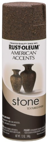 (Rust-Oleum 238324 Stone Creations Spray, 12 oz, Mineral Brown)