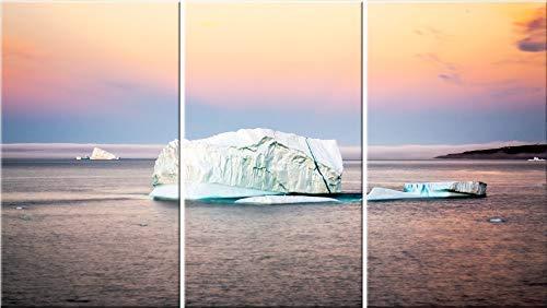 Amazon Com Iceberg 3 Piece Canvas Wall Art Newfoundland Photography Print Handmade