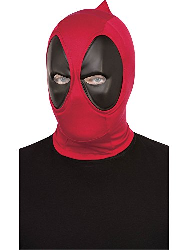 Rubie's Costume Co. Men's Deadpool Deluxe Fabric Overhead Mask, Red, One Size -