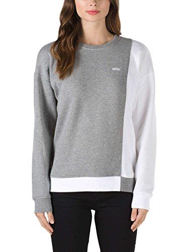 Division Vans shirt Crew apparel Femme Blanc Gris Chiné Sweat IcfqEE