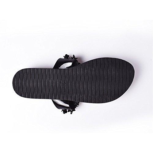 5 Donne Donna 5 estate infradito sandali Donna strass US8 UK6 CN40 di Bella Calzature Scarpe cunei EU39 Crystal moda Donna Casual rrHgnaq