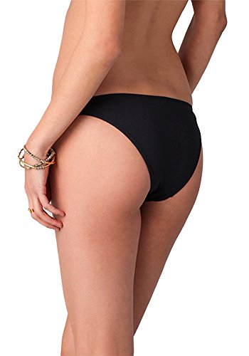 Botobkn Mujer Halter bikini Traje de ba?o Traje de ba?o con Volantes Black