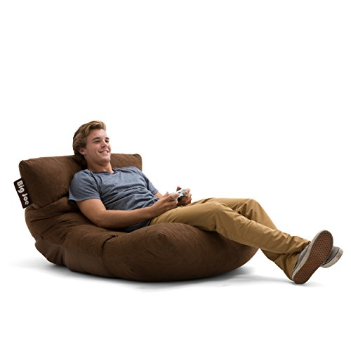 Big Joe Roma Bean Bag Chair, Comfort Suede Plus, Chocolate