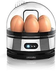 Arendo - Roestvrijstalen eierkoker met warmhoudfunctie - kantelschakelaar met indicatielampje - instelbare hardheid - afschrikken van 1-7 eieren - roestvrij, geborsteld roestvrij staal
