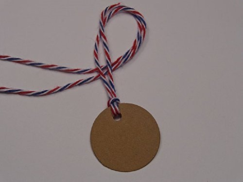 Small Kraft Brown Circle Tags - 1'' round paper tags - Gift Tags - Price Tags - One Inch Size (Set of 125)
