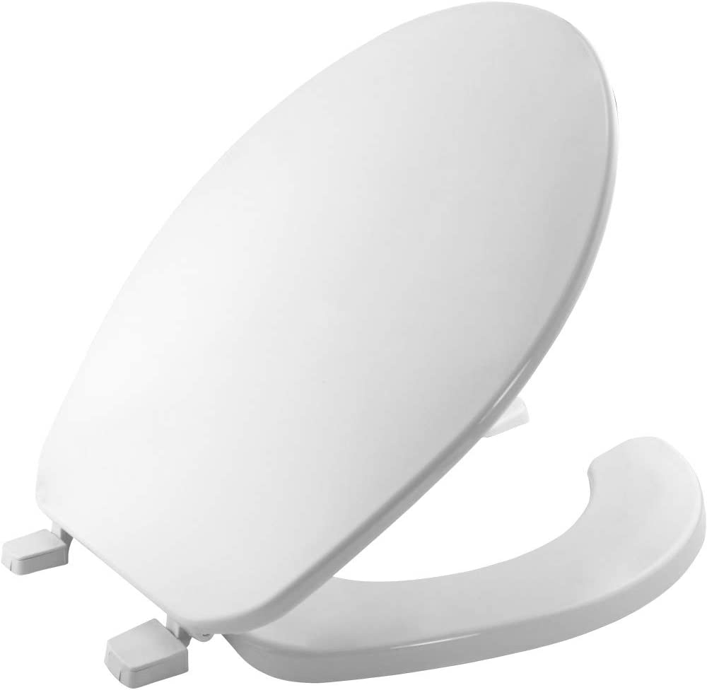 Bemis 75 000 Commercial Open Front Toilet Seat With Cover Round Plastic White