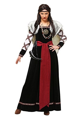 Women's Plus Size Dark Viking Dress Costume 3X ()