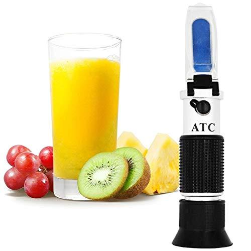 Zhuhaimei,Medidor de dulzor de Fruta Duradero 0-32% Ajuste automático de Temperatura Digital del refractómetro de azúcar(Color:Negro)