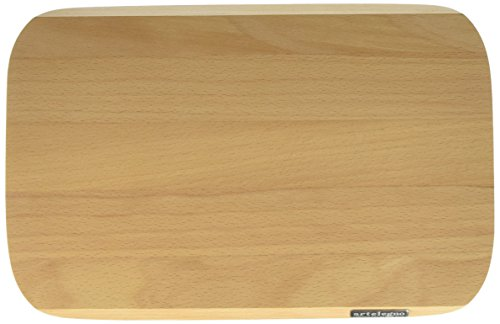 (Artelegno Solid Beech Wood Cutting Board, Luxurious Italian Siena Collection by Master Craftsmen, Ecofriendly, Natural Finish, Small)