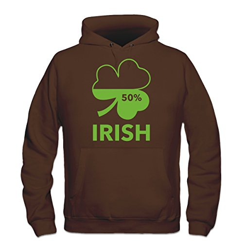 Shirtcity Irish 50 Percent Hoodie XXL Brown - Xxl 50 Cent