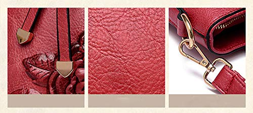 Al Hombro Large Red Rojo Para Yan Show Bolso Marrón Mujer qvP17tEx