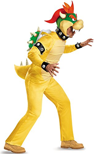 Disguise Men's Bowser Deluxe Adult Costume, Multi, X-Large