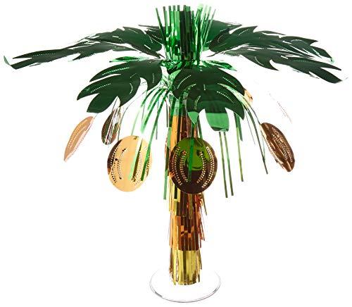 Creative Converting 6-Count Mini Foil Centerpieces, Luau Coconut Tree -