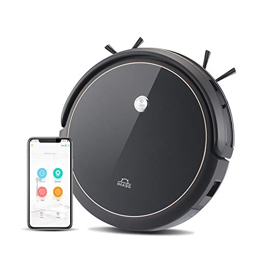 IMASS A3BS Robot Vacuum Cleaner, APP Controls, Alexa, Smart Navigation, Quiet, 360° Sensor Protection, self-Charging Robotic Vacuum, multipile Modes Best for pet Hair, Hard Floor and mid-Pile Carpets