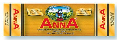 Anna Whole Grain Capellini #9 1 Lb Bags, Pack of 10
