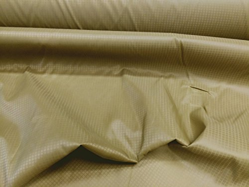 10 Yard Lot Discount Fabric Ripstop Rip Stop Nylon Water Resistant Coyote Brown