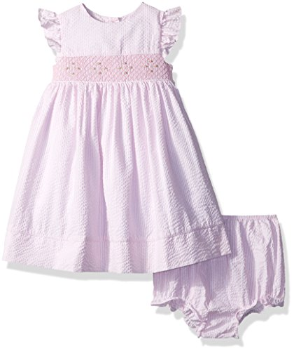Laura Ashley London Baby Girls' Flutter Sleeve Party Dress, Pale Pink, 24M