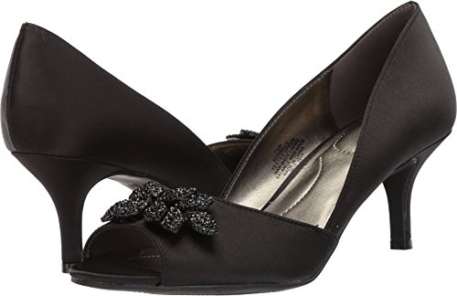 Bandolino Women's Niella Black Crystal Satin 6.5 M US