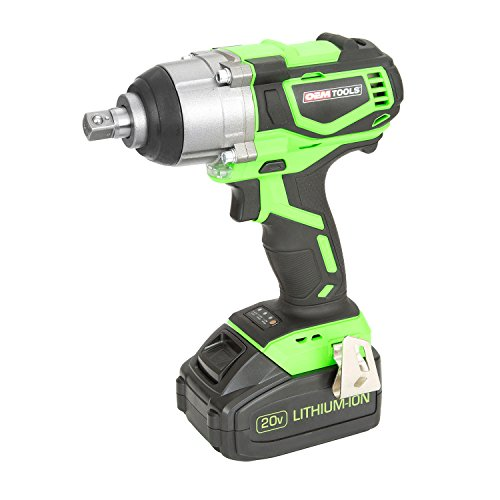OEMTOOLS 24486 20V Max Li-ion Brushless 1 2 Impact Wrench High-Performance Motor Produces More Torque, Runs Longer, and Lasts Longer Up to 3000 IPM 2600 RPM Green Black