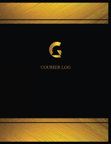 Record Courier (Courier Log (Log Book, Journal - 125 pgs, 8.5 X 11 inches): Courier Logbook (Black cover, X-Large) (Centurion Logbooks/Record Books))