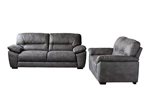 Diamond Sofa Avanti Dark Grey Soft-Touch Fabric Sofa & Loveseat 2PC Set , Included SOFA, LOVESEAT - # AVANTISLDG by Diamond Sofa