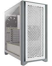 Corsair 4000D Airflow - Carcasa para PC (Cristal Templado, Media-Torre), Color Blanco