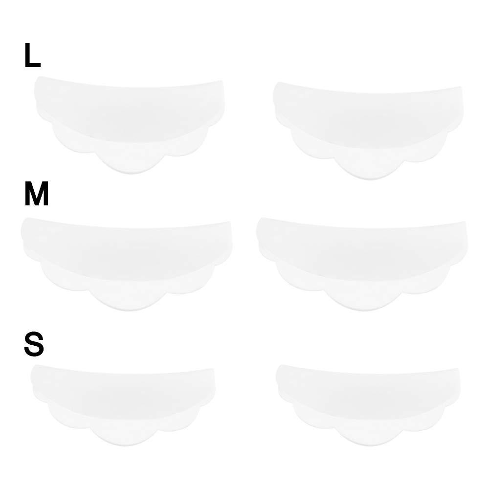 TiooDre 6pcs Cils Lifting Bigoudis Curl silicone Pads Cils Shields Extension