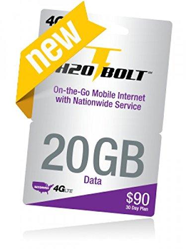 [해외]H2O 볼트 3-1 심 카드 (20GB 데이터)/H2O Bolt 3-1 Sim card (20GB Data )