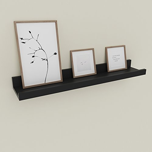 - Wall Mounted Floating Shelf Display Ledge Shelf for Picture Frames Book (Wall Mounted Floating Shelf_Black_24in)