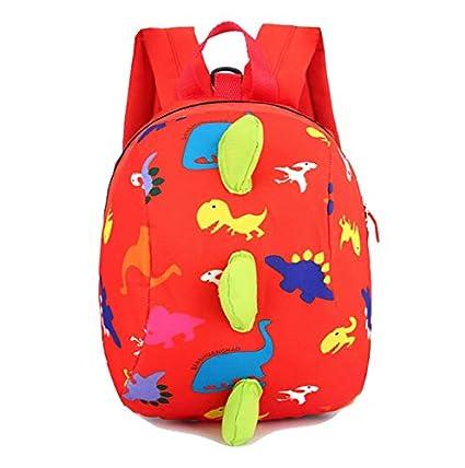 Frealm Kids Backpack Child Travel Daypack Toddlers Saffety School Bag Cartoon  Cute Dinosaur Kindergarten School Bag 21024ba8f69f3